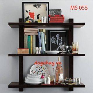 Kệ gỗ trang trí 3 tầng mã MS 055