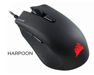 Mouse Corsair Harpoon RGB Black