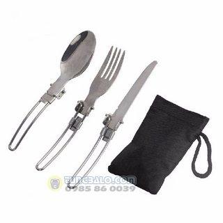 Bộ muỗng - dĩa - dao xếp du lịch