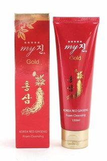 Sữa rửa mặt trắng da sâm đỏ My Gold Hàn Quốc