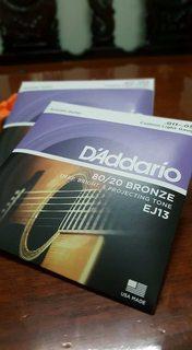 Dây đàn guitar acoustic D'Addario EJ13 (U.S made)