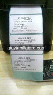 Tem Decal nhiệt  dán lý trà sữa 40x25mm Phần mềm FOODY