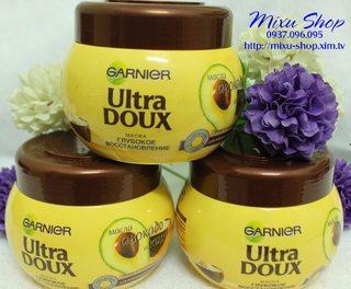 Kem ủ tóc Garnier Ultra Doux chiết xuất trái bơ và hoa quả