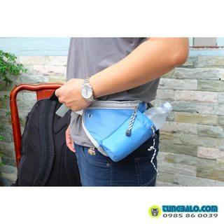 Túi đeo bụng có ngăn chai nước