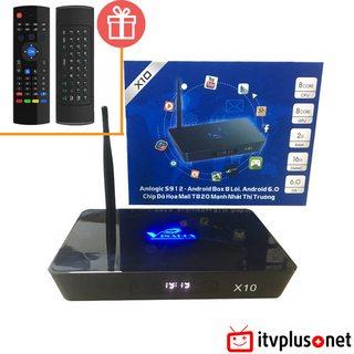 VINABOX X10 - Amlogic S912, CPU 8 Nhân, Ram 2G, Rom 16G 4K HDR10