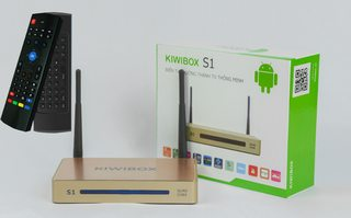 Combo Android TV Box Kiwi S1 + Chuột bay MX3V
