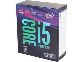 CPU Intel Core i5 8600K 3.6Ghz Turbo Up to 4.3Ghz / 9MB / 6 Cores, 6 Threads / Socket 1151 v2