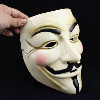 Mặt Nạ Hacker Anonymuos Vàng