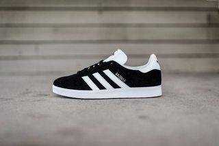 Adidas Gazelle Core Black / White / Gold Metallic