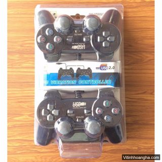 Bộ Tay cầm chơi game đôi EW-2008D có dây 2.0