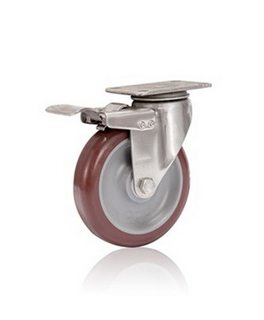 Bánh xe đẩy inox 304 PU tải từ 90kg đến 114kg/bánh
