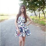 Đầm đẹp V 124 Ly Đầm cúp ngực họa tiết lông công ( hàng 100% hình)