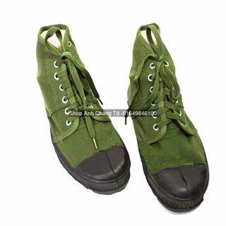 Giày lính xanh loại 2