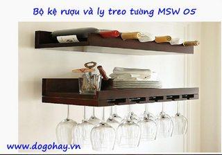 Bộ kệ rượu treo tường MSW 05