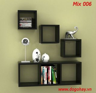 Bộ kệ gỗ trang trí Mix 006