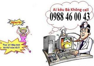 Dịch vụ sửa máy tính tại nhà quận 8 - LH: 0988 46 00 43